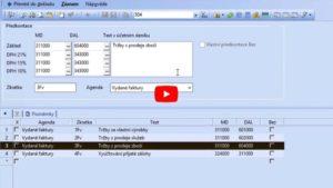 34. Účtování zásob - Předkontace pro zaúčtování skladové karty