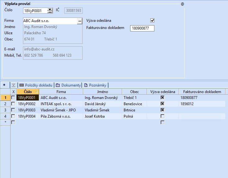 Uživatelské agendy v informačním systému POHODA E1