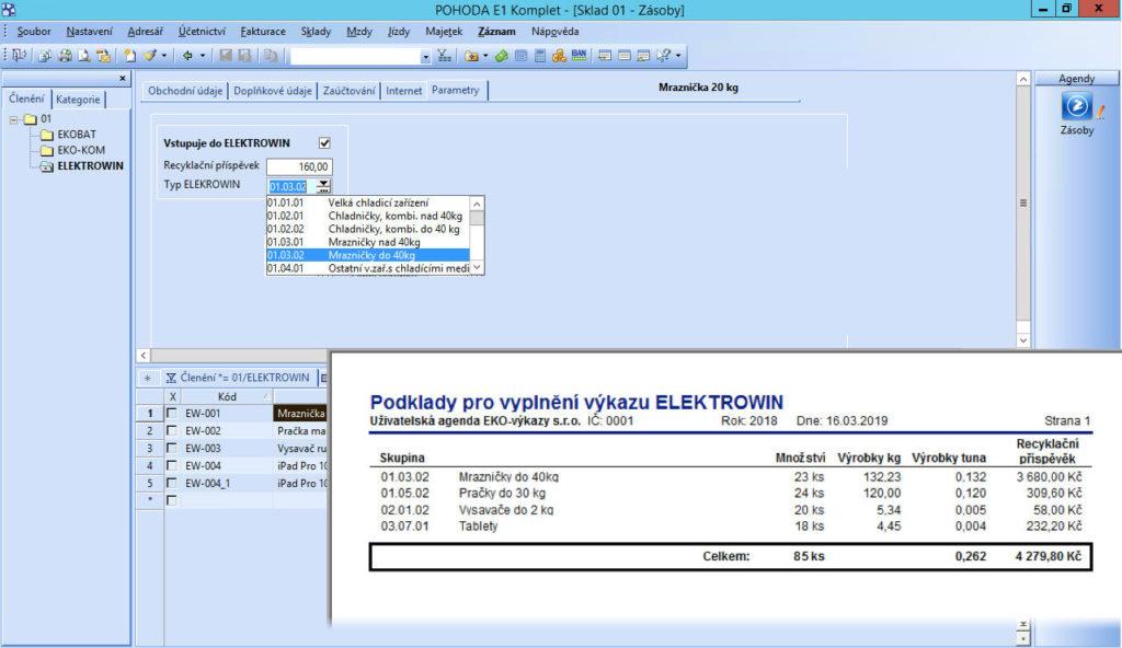 Podklady pro čtvrtletní výkazy ELEKTROWIN